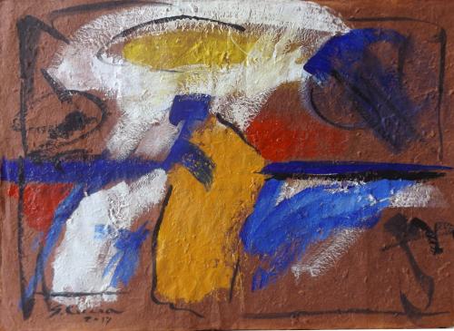 Quadro di Giuseppe Ciccia I quattro elementi - Pittori contemporanei galleria Firenze Art