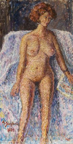 Art work by Guido Borgianni Nudo - oil canvas