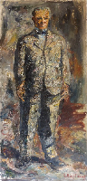 Quadro di Guido Borgianni - Ritratto di Bartolini olio tela