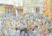 Quadro di Guido Borgianni - Piazza della Signoria - Firenze olio tela