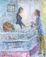 Quadro di Guido Borgianni - Agenzia di viaggi olio tela
