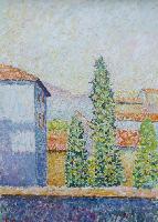 Quadro di Guido Borgianni - Forte dei Marmi  olio tela