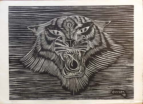 Art work by Rosa Canfora Ruggito - lithography paper