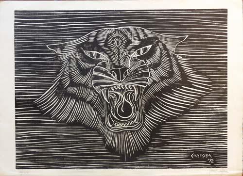 Quadro di Rosa Canfora Ruggito - litografia carta