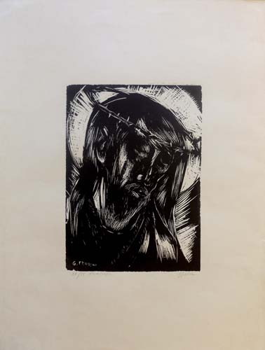 Art work by Gino Terreni Cristo - lithography paper