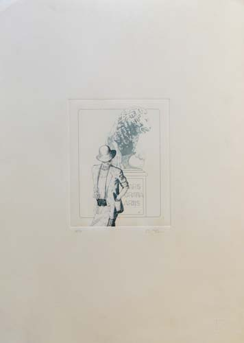 Art work by Danilo Fusi Figura  - lithography paper