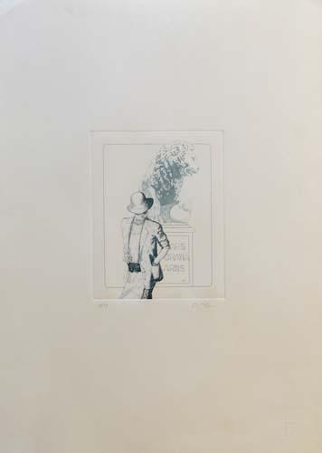 Quadro di Danilo Fusi Figura  - litografia carta