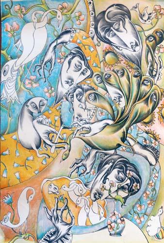 Quadro di Antonio Manzi Primavera  - litografia carta