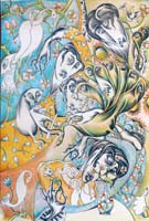 Work of Antonio Manzi - Primavera  lithography paper