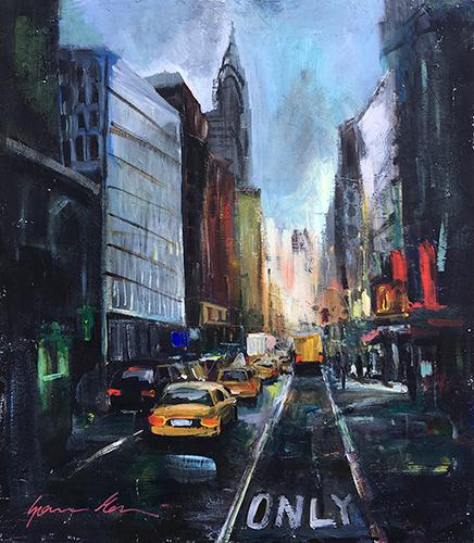 Quadro di Gianni Mori Metropoli di New York - mista truciolare