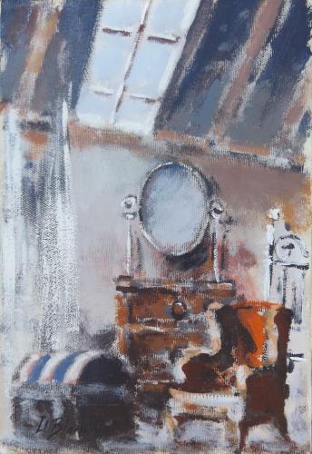 Quadro di Umberto Bianchini Soffitta - mista tela