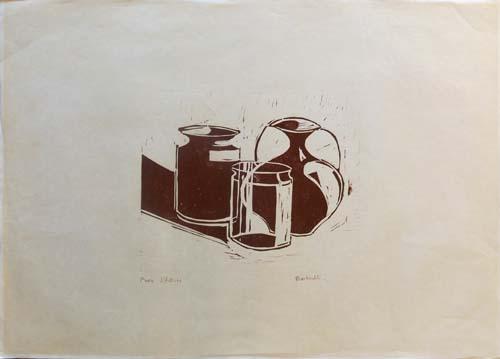 Quadro di  Bucherelli Composizione  - litografia carta
