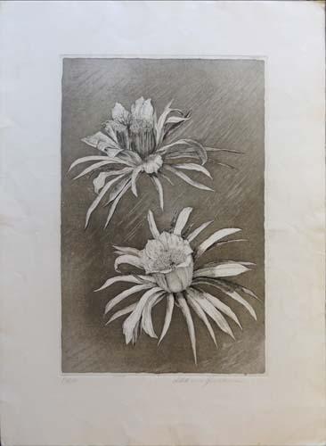 Art work by firma Illeggibile Fiori - lithography paper