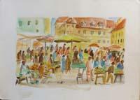 Work of Rodolfo Marma  Mercato a Memmingen