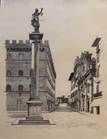Quadro di Firma Illeggibile  Piazza Santa Trinita Firenze