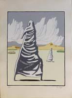 Work of Dino Buzzati - I Maghi d'Autunno lithography paper
