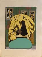 Work of Dino Buzzati - La Giacca lithography paper
