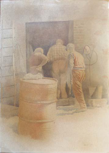 Quadro di  Verrusio Figure  - litografia carta