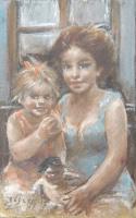 Quadro di Ermanno Toschi   Ritratto materno