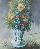 Quadro di  Berto  Vaso di fiori