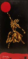 Quadro di  Kocevar  Ballerina dorata