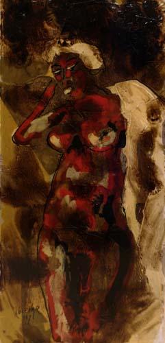 Quadro di  Kocevar Nudo - Pittori contemporanei galleria Firenze Art