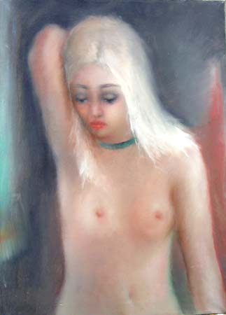 Art work by Gino Tili Nudo - oil canvas