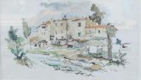 Quadro di Gino Tili  Paesaggio di case