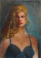 Quadro di Osman Lorenzo De Scolari - Ritratto olio tela