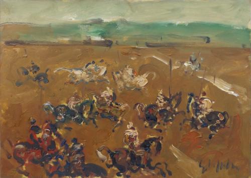 Quadro di Emanuele Cappello Campo di battaglia - olio tela