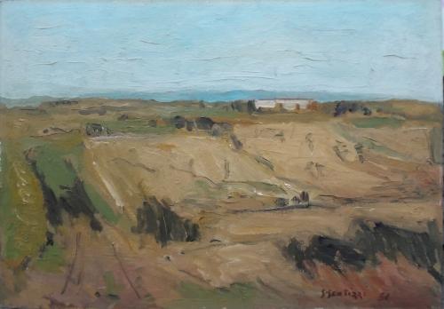 Quadro di Sergio Scatizzi Paesaggio - olio faesite