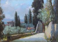 Gracco Ponticelli - Paesaggio fiorentino