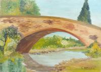 Quadro di C. Messeri - Ponte antico  olio tavola