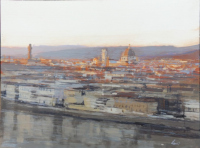 Work of Claudio Cionini  Tramonto a Firenze