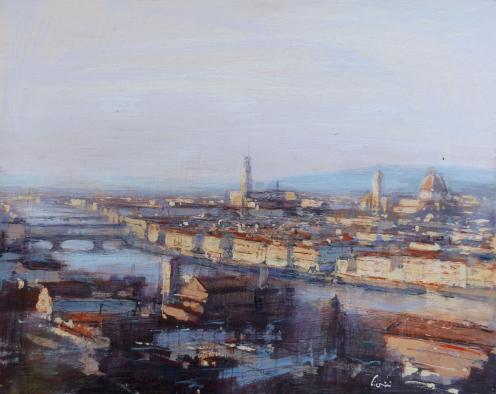 Quadro di Claudio Cionini Firenze - mista cartone