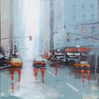 Work of Claudio Cionini  New York dopo la pioggia
