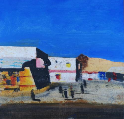 Quadro di Salvatore Magazzini Sharm El Skeich - olio compensato