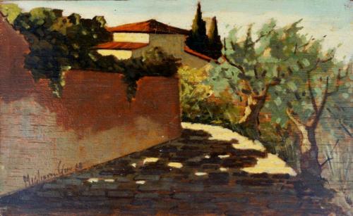 Quadro di G. Migliorini Paesaggio - olio tavola