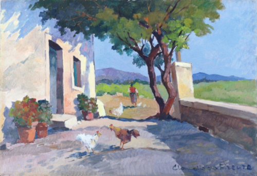 Art work by Claudio da Firenze In campagna  - oil hardboard