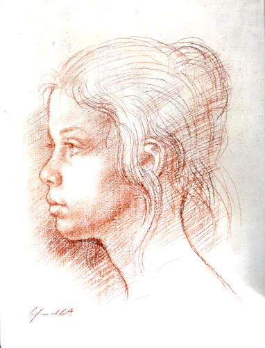 Quadro di Alfredo Cifariello Manuela  - Pittori contemporanei galleria Firenze Art