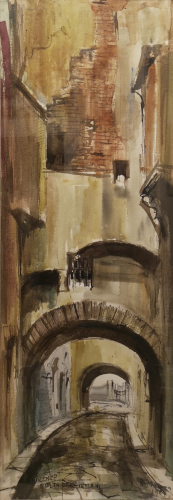 Quadro di Rodolfo Marma Volta dei Girolami  - acquerello carta