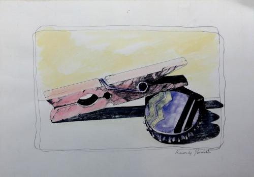 Art work by Riccardo Ghiribelli Dettagli - lithography paper