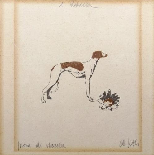 Art work by Fabio De Poli Prova di stampa canina - lithography paper