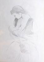 Quadro di Pancrazio Spinelli  Il momento dell'allattamento