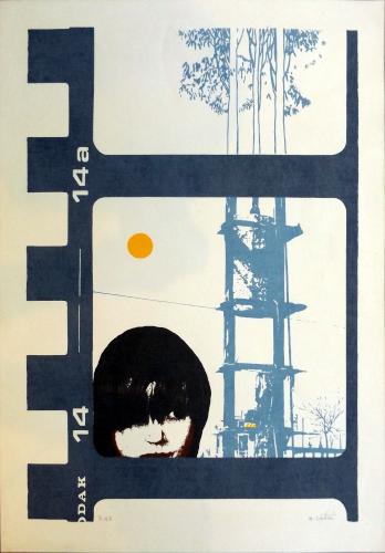 Quadro di Massimo Cantini Figura  - litografia carta