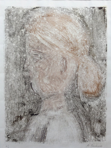 Art work by Antonio Bueno Figura femminile - mixed paper