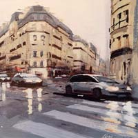 Work of Claudio Cionini  Auto a Parigi