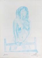 Quadro di Firma Illeggibile  Nudo senza volto