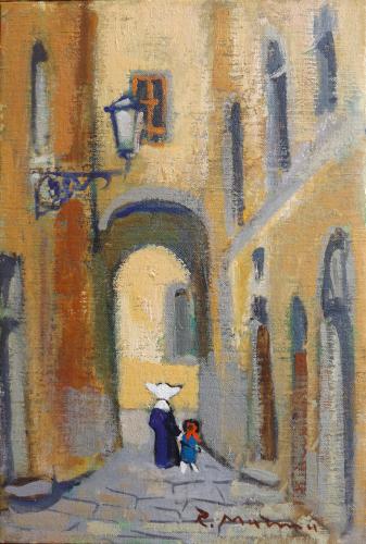 Quadro di Rodolfo Marma Vicolo - olio tavola