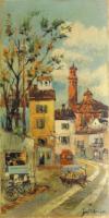 Quadro di  Tessoni - Borgo antico mista faesite